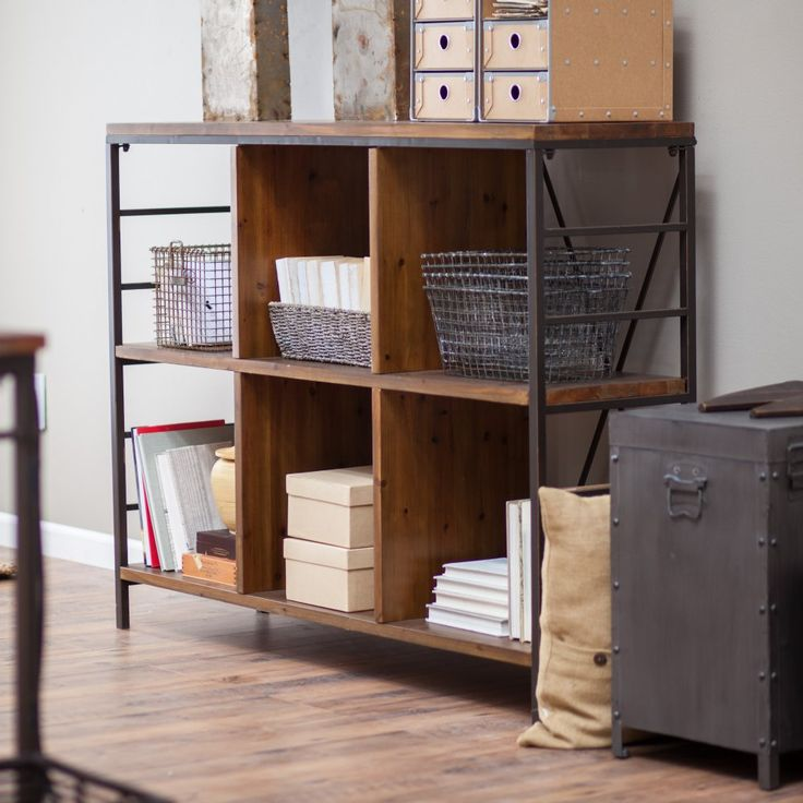 Charming Townsend Bookcase   Add Warehouse District Charm To Your Space With The  Endlessly Versatile Belham Living Townsend Bookcase. This Six Cube Style  Horizontal ...