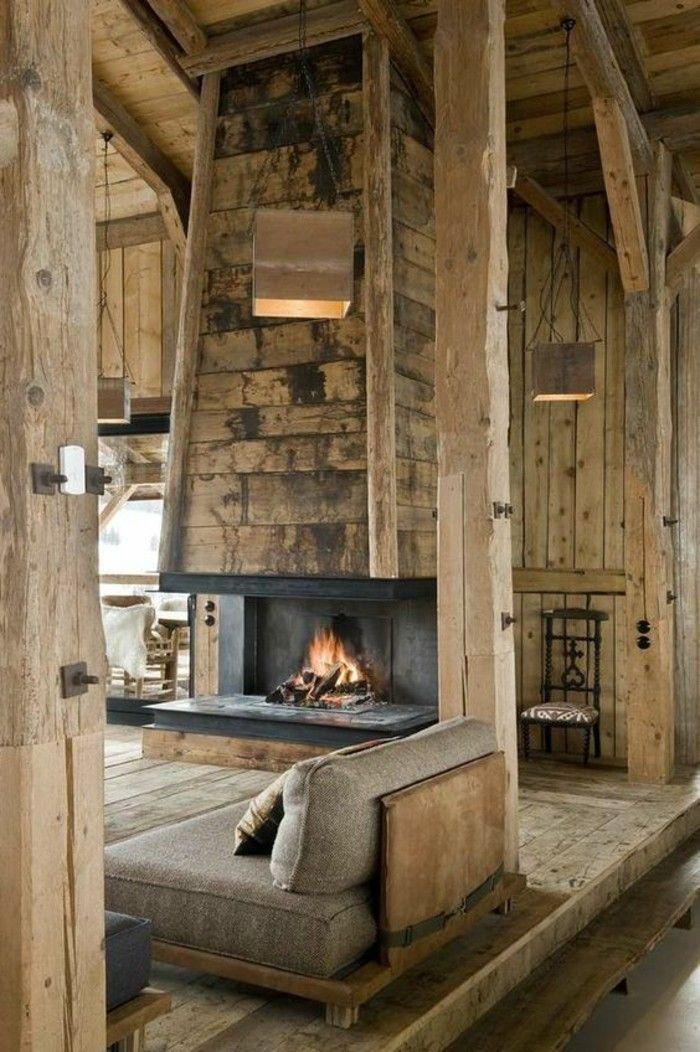 les 25 meilleures id es concernant chemin es rustiques sur pinterest manteau rustique. Black Bedroom Furniture Sets. Home Design Ideas