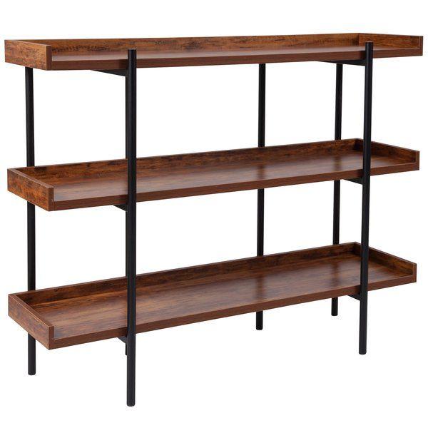 Ohlson 35 H X 47 25 W Storage Shelf Rustic Bookcase Storage