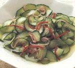 Cholesterol recept, komkommersalade