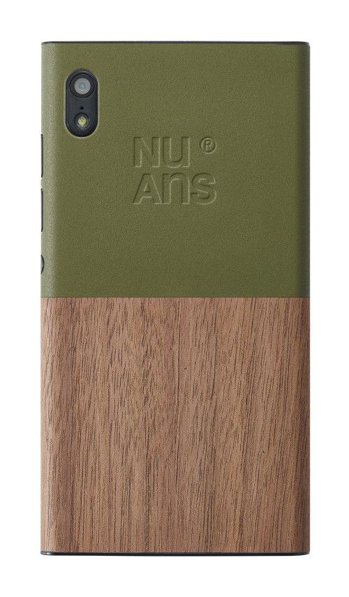Material Break Green #wood square Button Electronics Camera Minimalist khaki Phone leManoosh