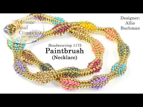 Colorful Herringbone Necklace Tutorial | The Beading Gem's Journal | Bloglovin'