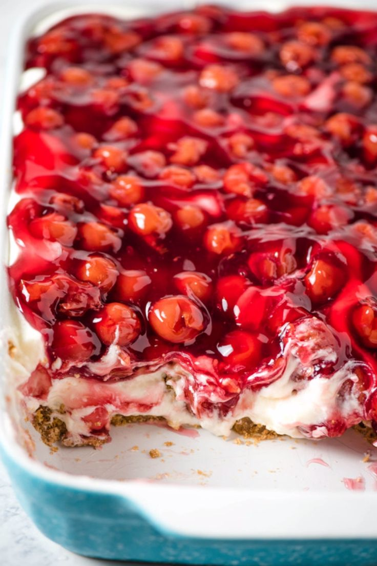 Easy No Bake Cherry Delight