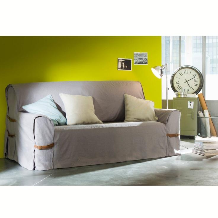 housse de canap pur lin. Black Bedroom Furniture Sets. Home Design Ideas