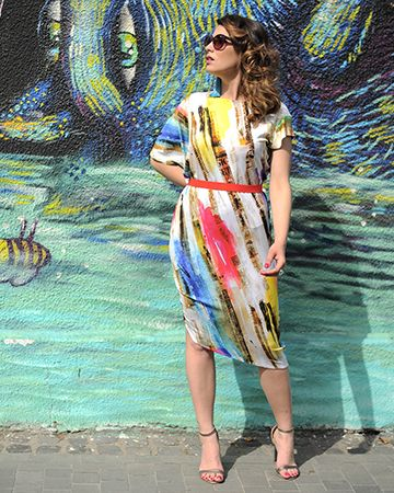 Colors Newsflash | colors of a beautiful day | Style Crush | Gorgeous tea length | off the runway |