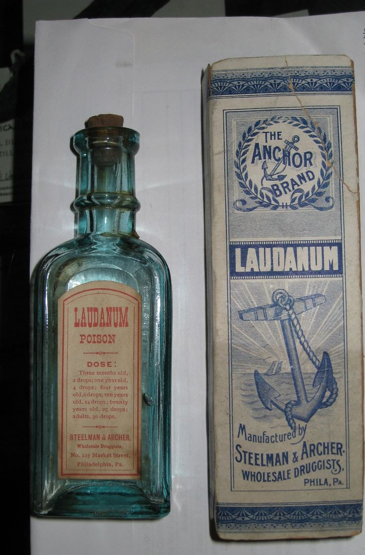Laudanum was a wildly popular drug during the Victorian era. It was an opium-based painkiller prescribed for everything from headaches to tuberculosis