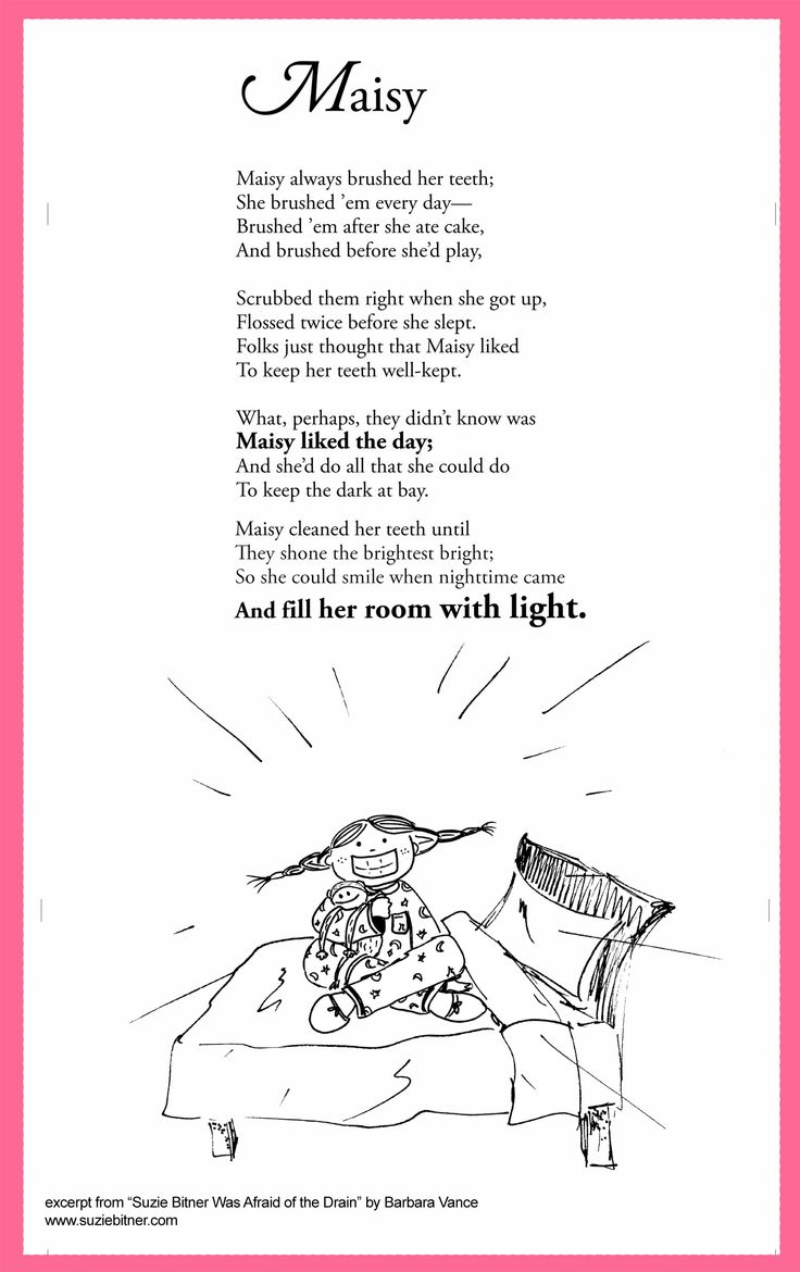 Funny Children's Poem about a girl who is afraid of the dark. Great for school and classroom activities. common core first 1st grade, second 2nd grade, third 3rd grade reading #ESL