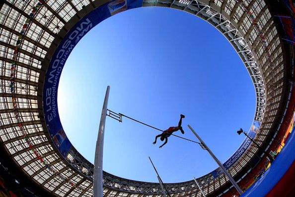 Gunnar Nixon of the United States competes in the Men's Decathlon Pole Vault during Day Two of the 14th IAAF World Athletics Championships Moscow 2013 at Luzhniki Stadium on August 11, 2013 in Moscow, Russia.