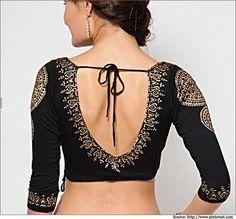 10 Latest Saree Blouse Designs | Neck Designs and Blouse Back Designs