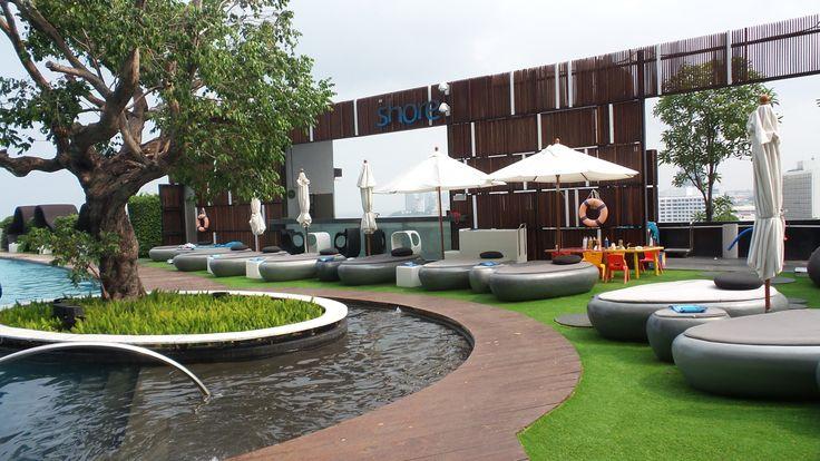Pool Area at the Hilton Pattaya Hotel, Thailand