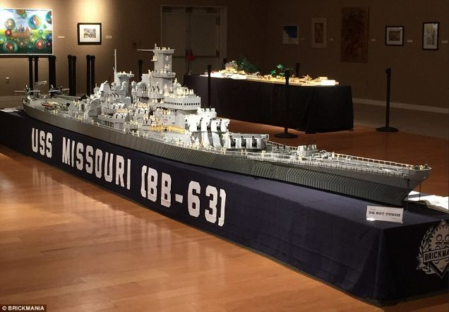 Fisherman Spent 3 Years Building Massive 24-Foot Long Lego USS Missouri... but, Dan Siskind has pipped him with a 7.8m version of the same ship.