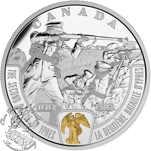 Coin Gallery London Store - Canada: 2015 $20 First World War: Battlefront Series - The Second Battle of Ypres Silver Coin, $109.95 (http://www.coingallerylondon.com/canada-2015-20-first-world-war-battlefront-series-the-second-battle-of-ypres-silver-coin/)