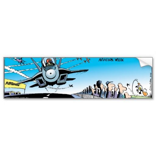 Ding Duck grabs the attention of the crowd at the Swamp air show. $5.75 for 15% off use ZAZZDECEMBER #zazzle #bumpersticker #aviationshow #dingduck