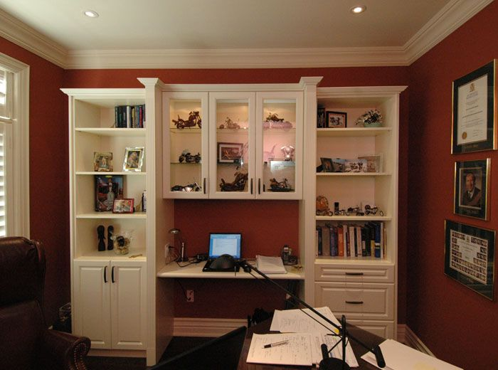 Custom home office and library unit