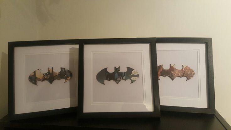 Small Batman comic frames $25 each from Sherlock Designs Facebook.com/sherlockdesigns