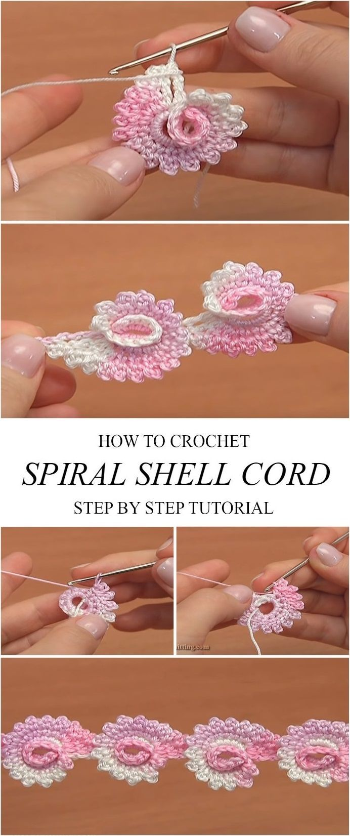 Spiral Shell Cord Crochet Tutorial Learn how to cr…