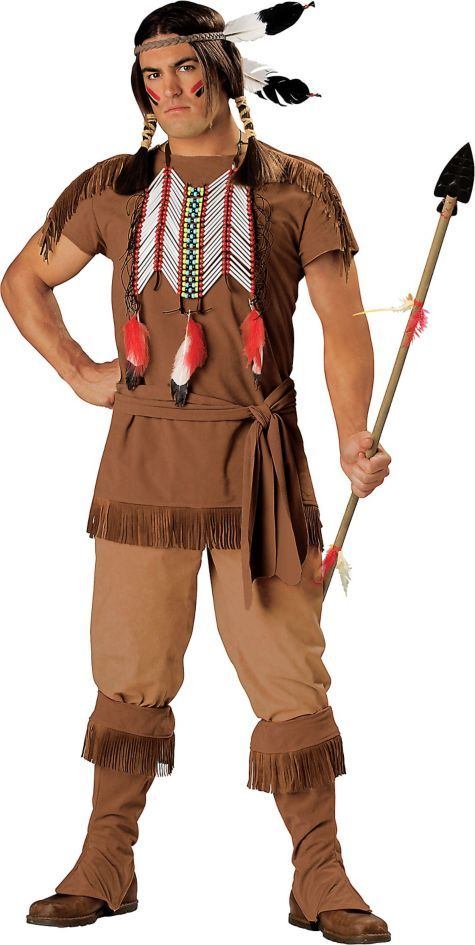native american costume adult elite halloween city - Native American Costume Halloween