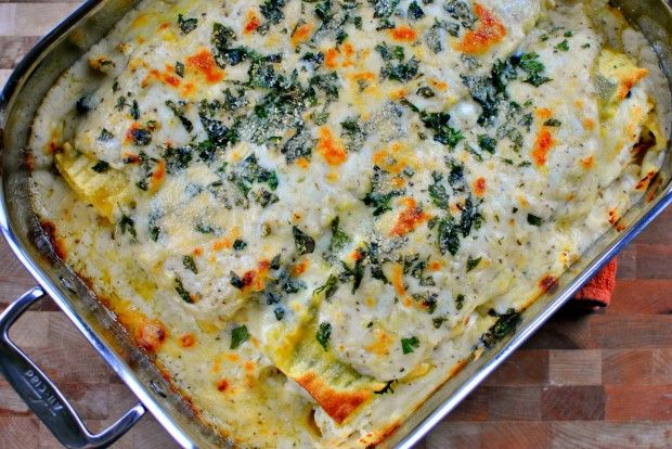 White Chicken and Cheese Lasagna