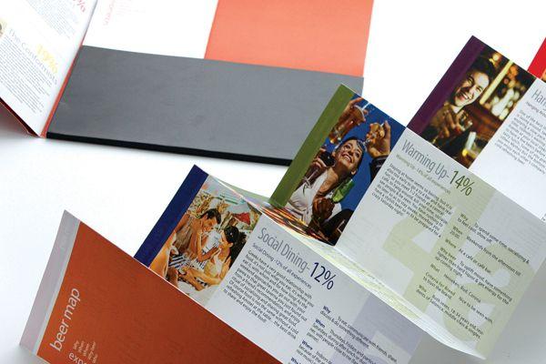 Brochure Design / Athinaiki Zythopoiia by Angelos Theodoropoulos, via Behance