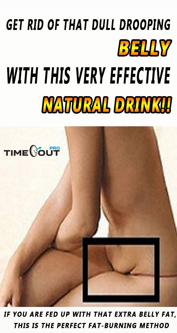 Get Rid of That Dull Drooping Belly with This Very Effective Natural Drink!