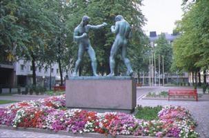 Boxing in Helsinki Hakaniemi