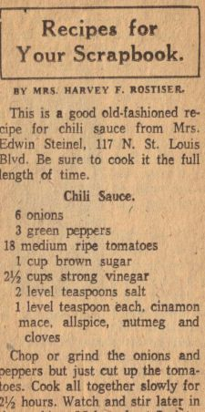 This is close to the chili sauce recipe that I use to make. Unfortunately I lost my recipe. So I will try this one. Chili Sauce Recipe Clipping