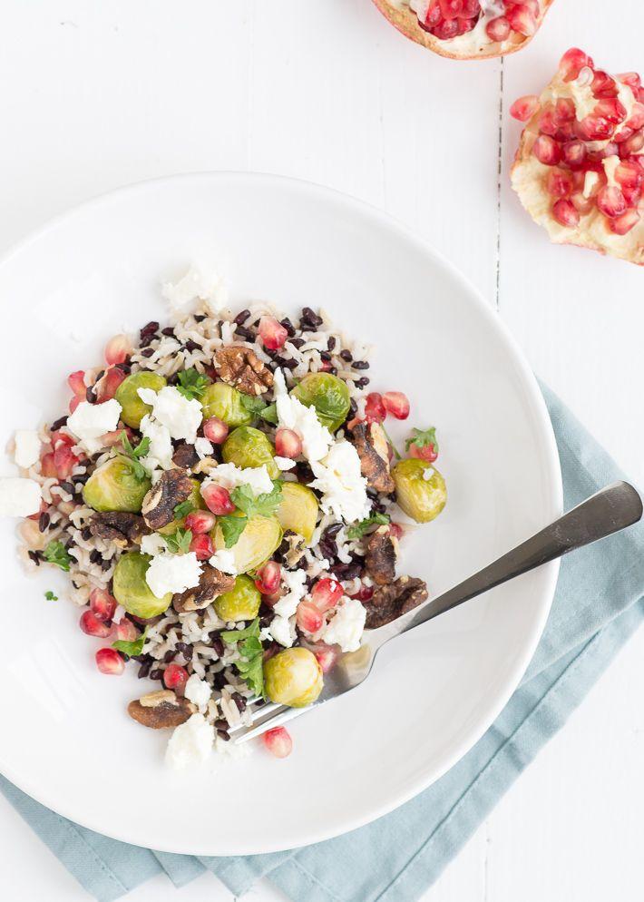 wilde-rijstsalade met spruitjes #brusselssprouts