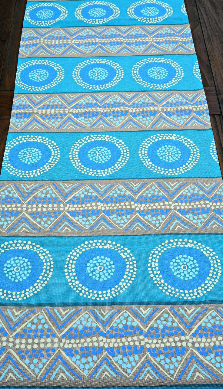 Our new range , This table runner is 1.5 m , hand printed   on cotton $40