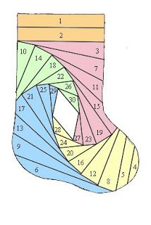This would be a fun design for a crazy quilt stocking.