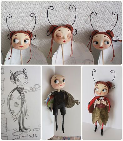 I really like this gal's entire Art Doll Board! - http://pinterest.com/khalees/hello-dolly