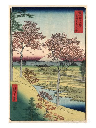 Japan: Maple Trees, 1858 Prints by Ando Hiroshige at AllPosters.com
