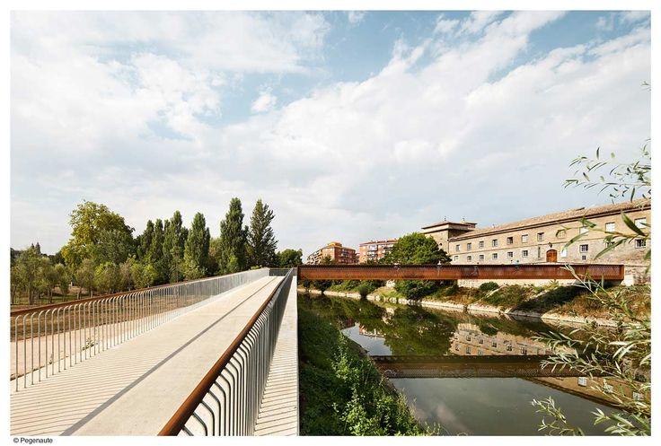 Concrete-Corten_Bridge_Over_Rio_Arga-Aranzadi_Park-03 « Landscape Architecture Works   Landezine