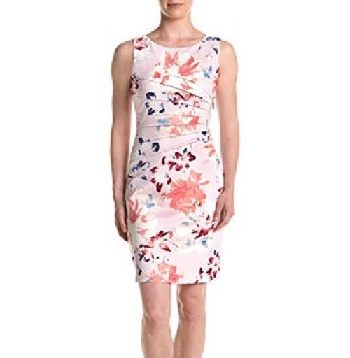 86b87e81 Ivanka Trump Size 8 Light Pink Printed Starburst Sheath Bodycon Dress 1513 # IvankaTrump #BodyconDressSheathDress