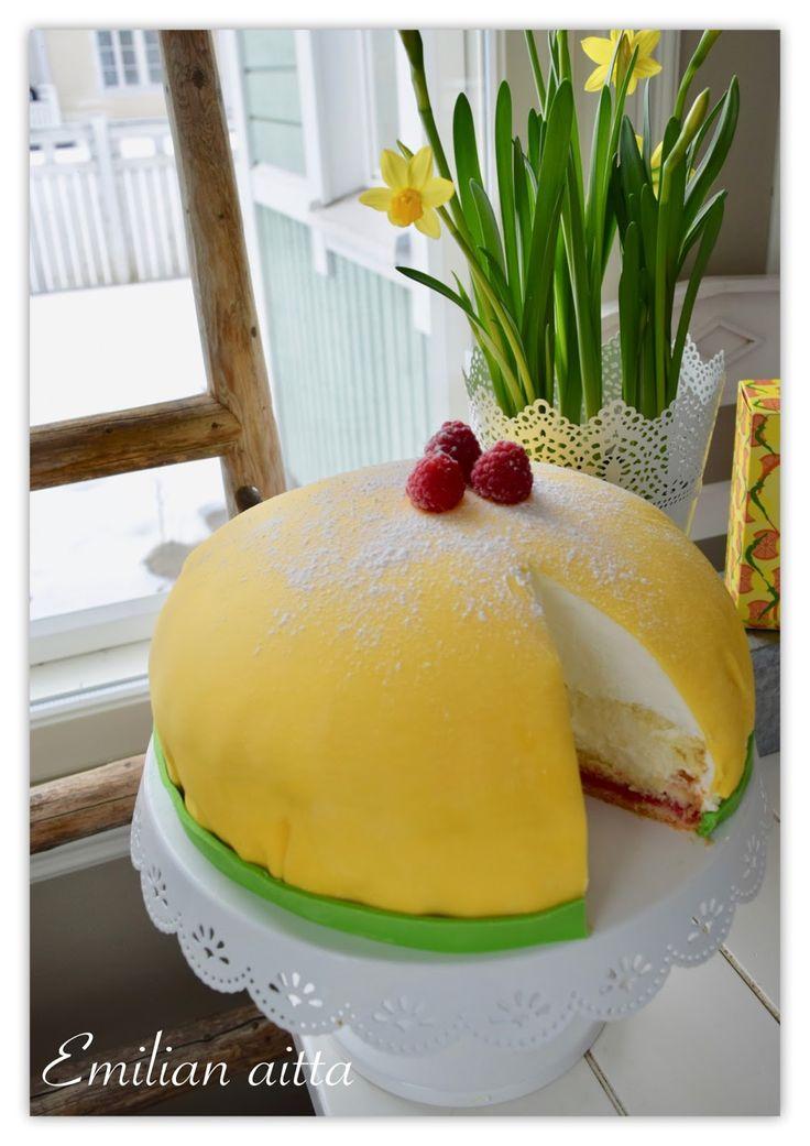 Gluteeniton prinsessakakku, gluteenitonta leivontaa, Kakut, sokerimassakakku