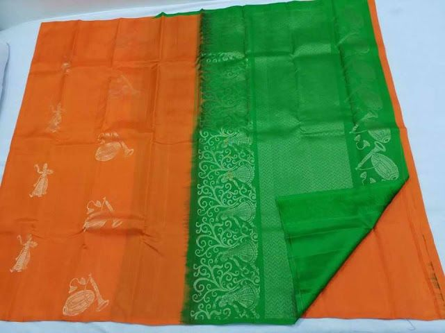 Lady weavings handloom soft silks sarees | Buy Online soft silk sarees | Elegant Fashion Wear