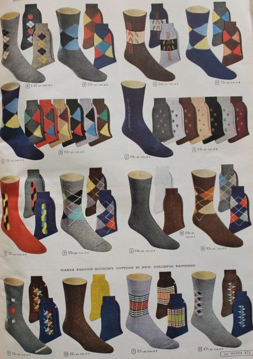 d7eb189b0c1b History of Vintage Men's Socks -1900 to 1960s | men's fashion ...