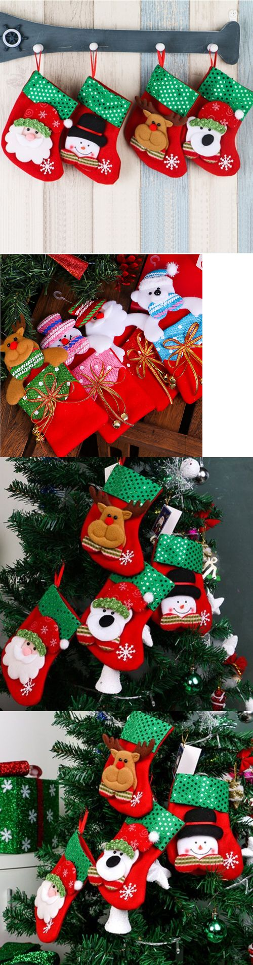 Christmas Decorations: Christmas Santa Socks Cute Ornaments Festival Party Xmas Tree Hanging Decoration -> BUY IT NOW ONLY: $0.99 on eBay!