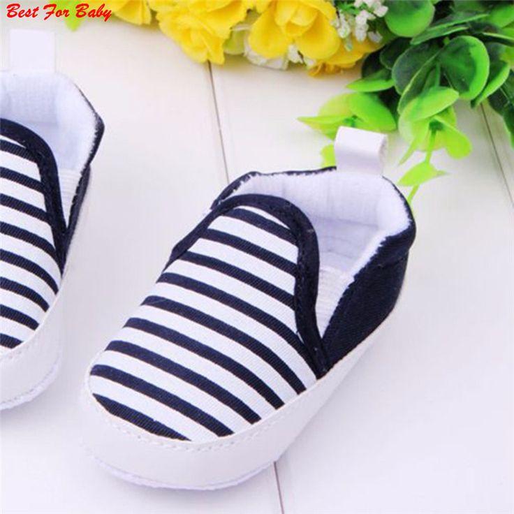Los Niños de la marca Bebé Niños Zapatos de Los Muchachos Antideslizantes Rayas Niños Primeros Zapatos Andadores Bebes Ninas Recién Nacido