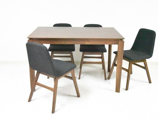 Laura 1.2m Dining Table + 4 Laura Dining Chairs
