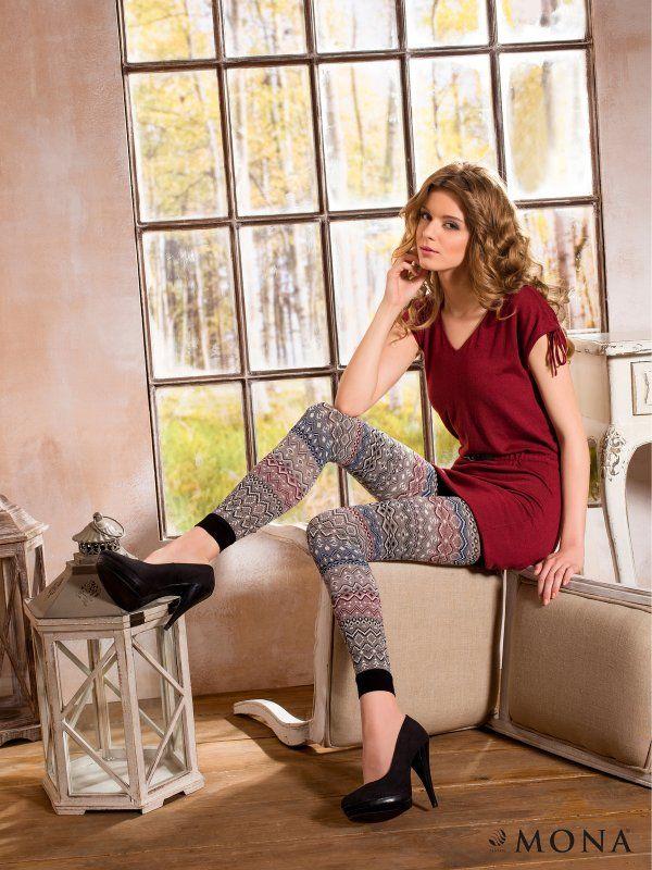Leginsy damskie TOVE 07 szare  - legginsy - MONA. ILE0038 Świetna jakość, rewelacyjna cena, modny krój. Idealnie podkreśli atuty Twojej figury. Obejrzyj też inne leginsy tej marki.