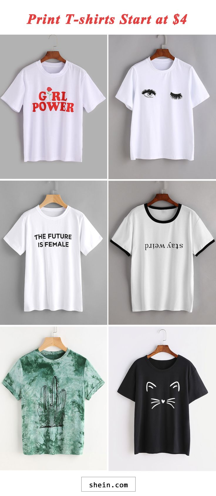 Print T-shirts start at $4