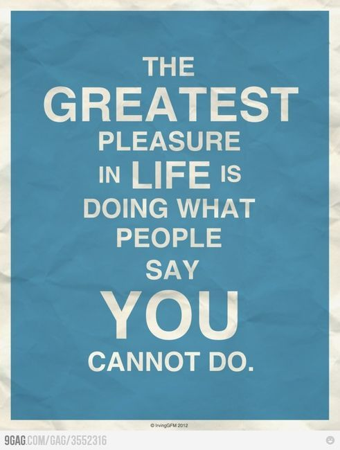 the greatest pleasure in lifeLife Quotes, Greatest Pleasure, The Challenges, Quotes Posters, So True, Favorite Quotes, Challenges Accepted, Inspiration Quotes, True Stories