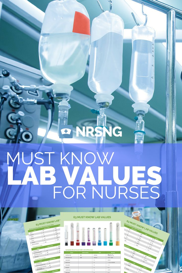Gotta check out this huge list of lab values for nurses with a 4 page download