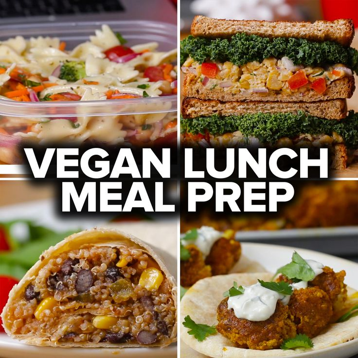 6 Vegan Lunch Meal Preps by Tasty