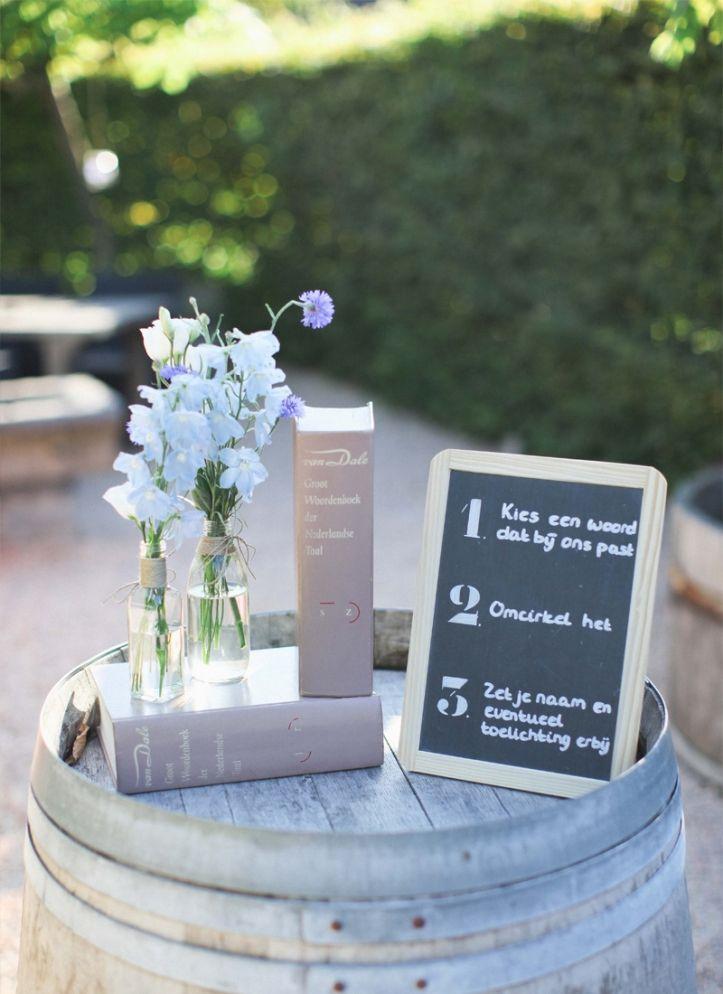 Woordenboek, bruiloft, dictionary wedding personalize