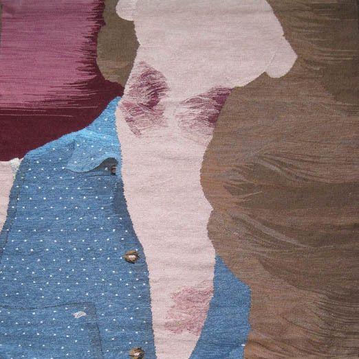 Tattooed Tapestries by Erin M Riley Art #InkedMagazine #art #artwork #tapestries