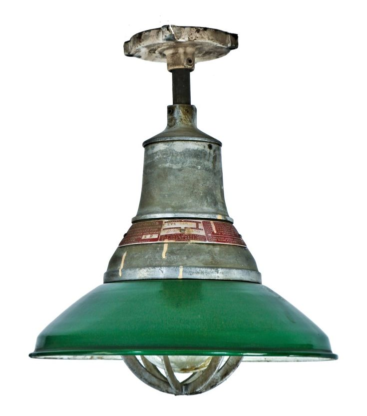 impressive all original and one of three matching vintage american industrial green porcelain enameled  explosion proof  ceiling pendant light fixture with ...  sc 1 st  Pinterest : guth lighting fixtures - azcodes.com