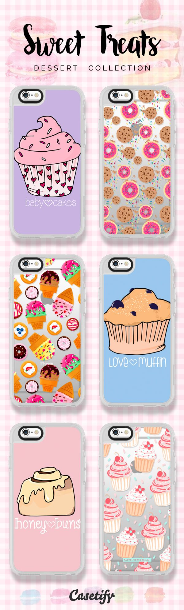 6 most popular sweet treat iPhone 6s phone cases | Click through to see more dessert iPhone 6 phone case ideas >>> https://www.casetify.com/artworks/QFCrwZcygm #food | @casetify
