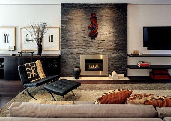 Wood Wall Sculpture  Hermes  Abstract Wall Art  by CristherArt