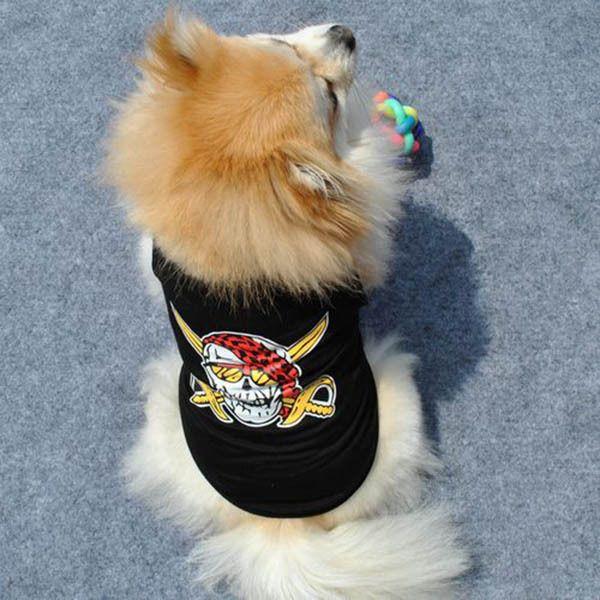 Собака щенок домашнее животное черный жилет пальто одежда экипировка с черепом мотив размер бесплатная доставкакупить в магазине Pet Supplies MarketнаAliExpress